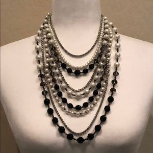 Ann Taylor Seven Strand Statement Necklace